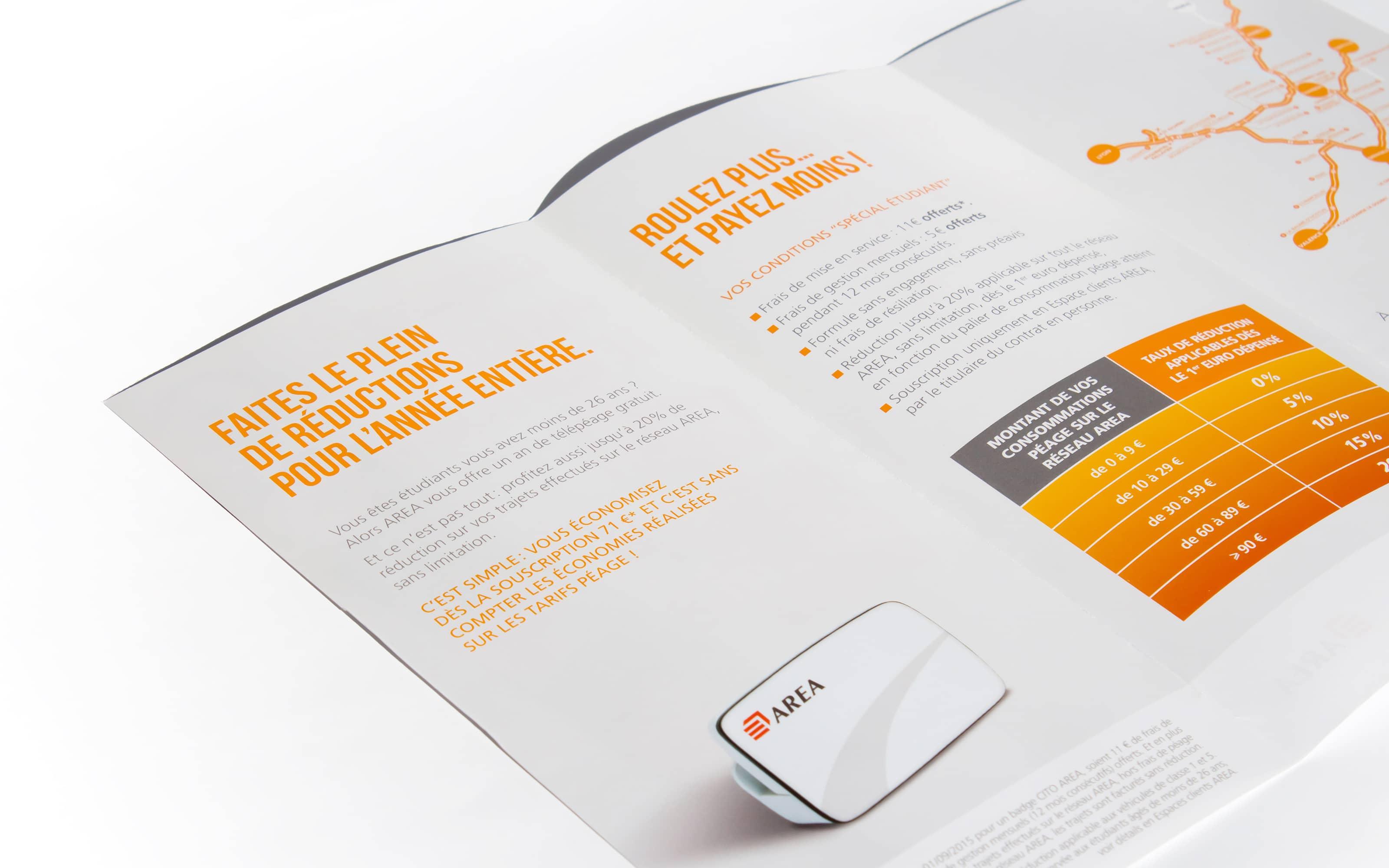 Plaquette Telepeage AREA-APRR Groupe Eiffage - Une creation STARFACTORY Communication